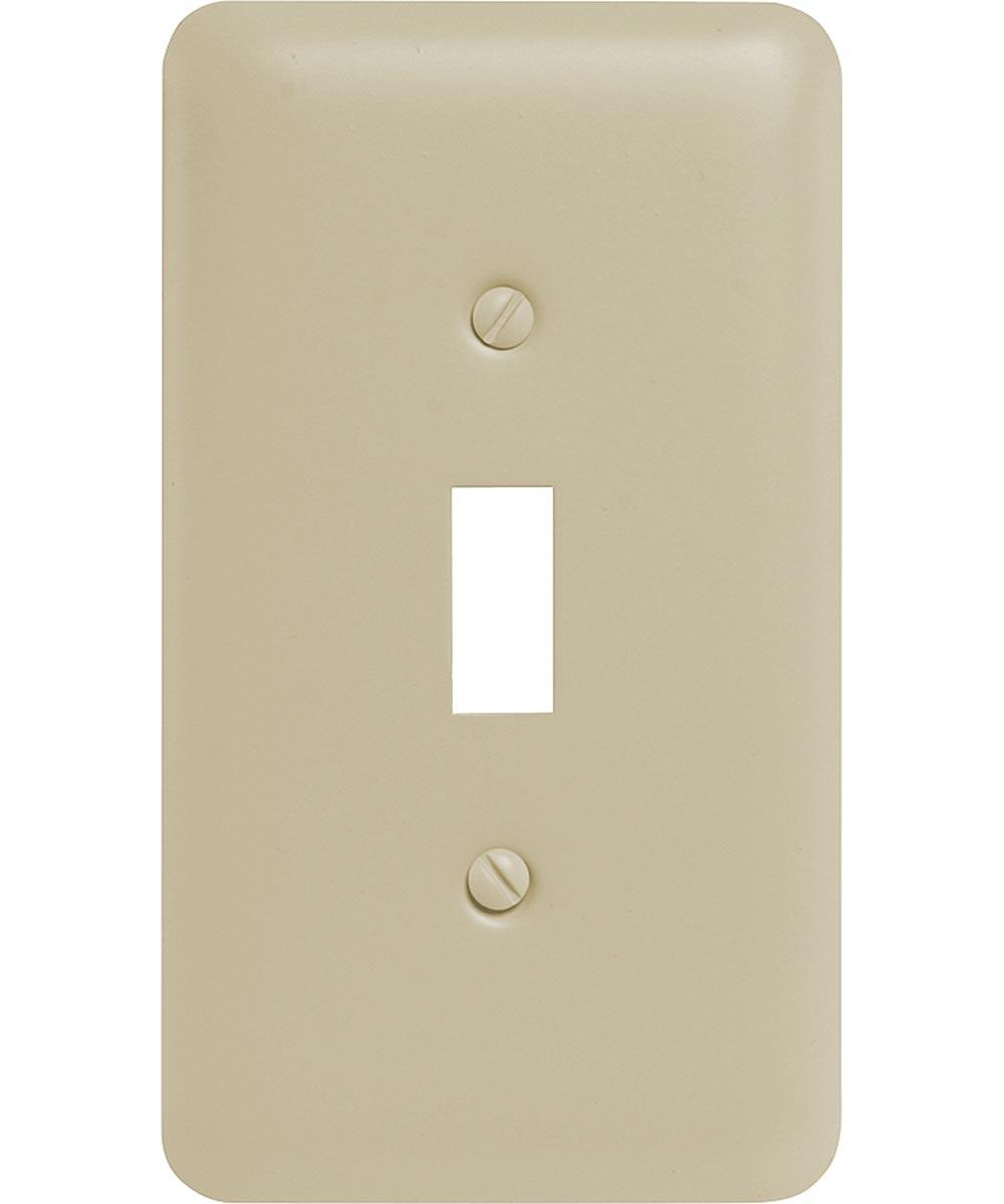Switch Wall Plate, 1 Gang, 5 in. (L) x 2-3/4 in. (W) x 1/4 in. (D), Almond