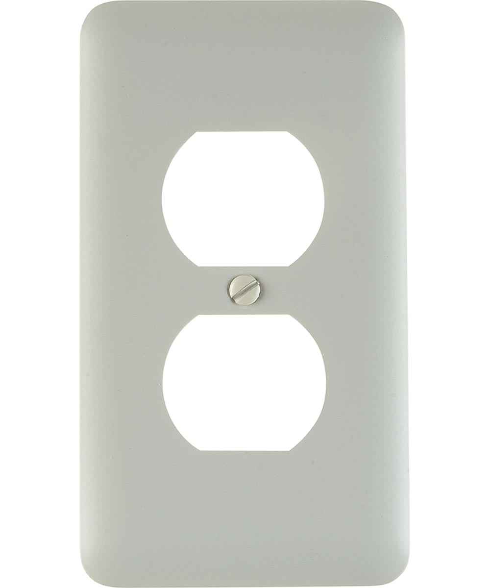 Wall Plate, 1 Gang, 5 in. (L) x 2-3/4 in. (W) x 1/4 in. (D), White