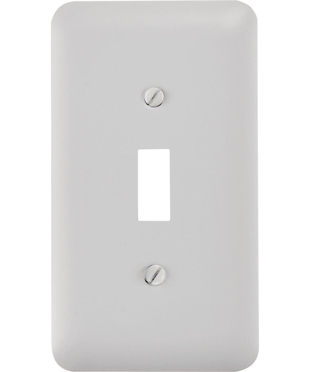 Rectangular Wall Plate, 1 Gang, 2.9 in. (L) x 5 in. (W) x 0.2 in. (D), White