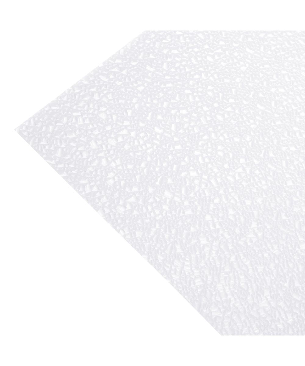 23.75 in. x 47.75 in. White Cracked Ice Acrylic Ceiling Lighting