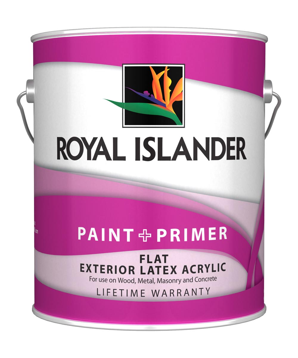 1 Gallon Exterior Flat White Base Paint + Primer