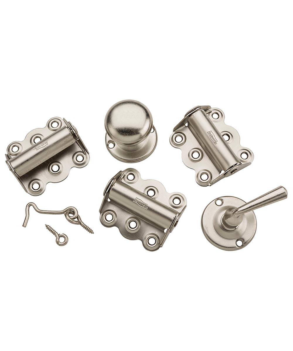 Screen Door Kit, Steel, Satin Nickel