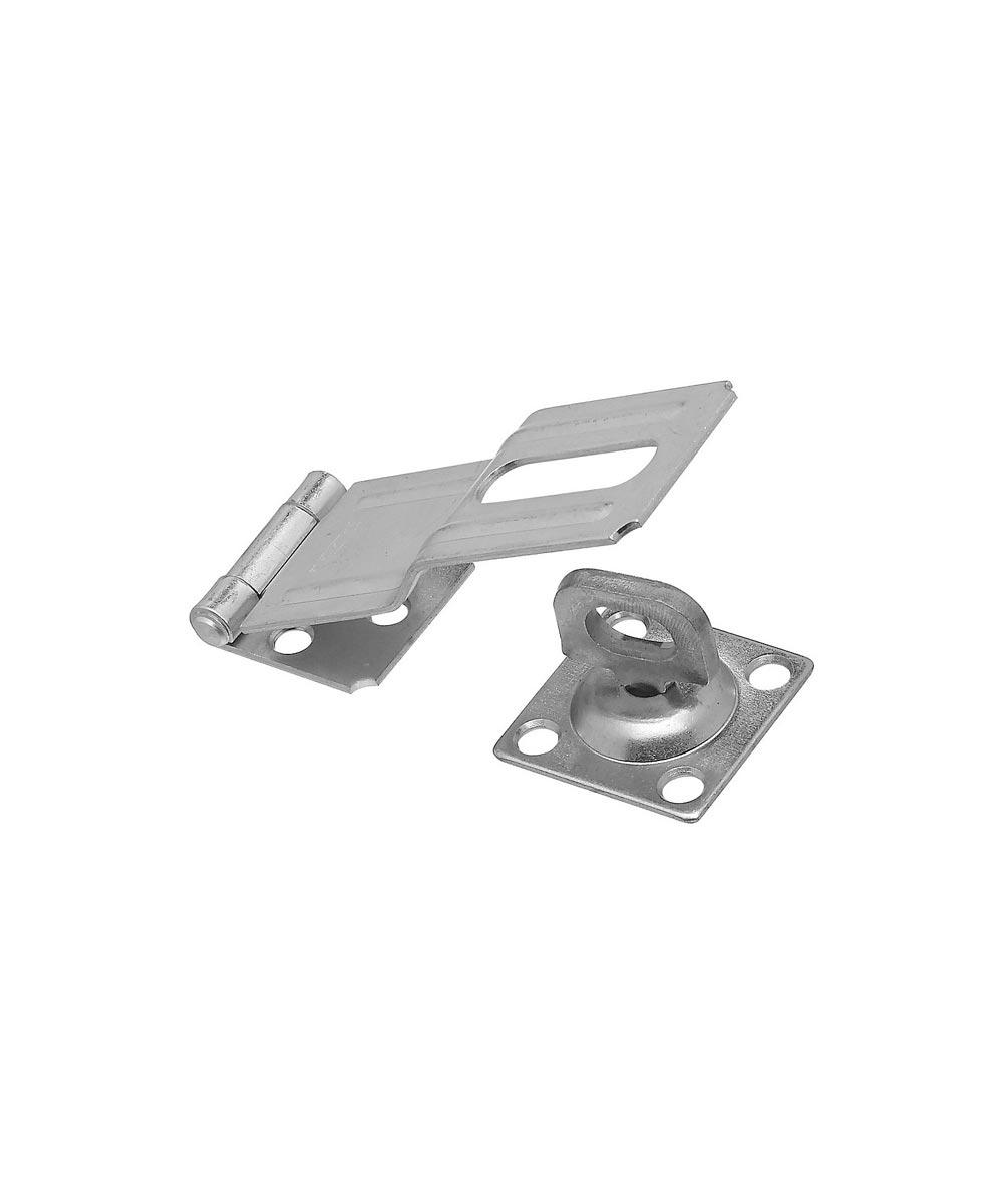 """National Hardware V32 4-1//2/"""" Zinc Plated Swivel Staple Safety Hasp"""
