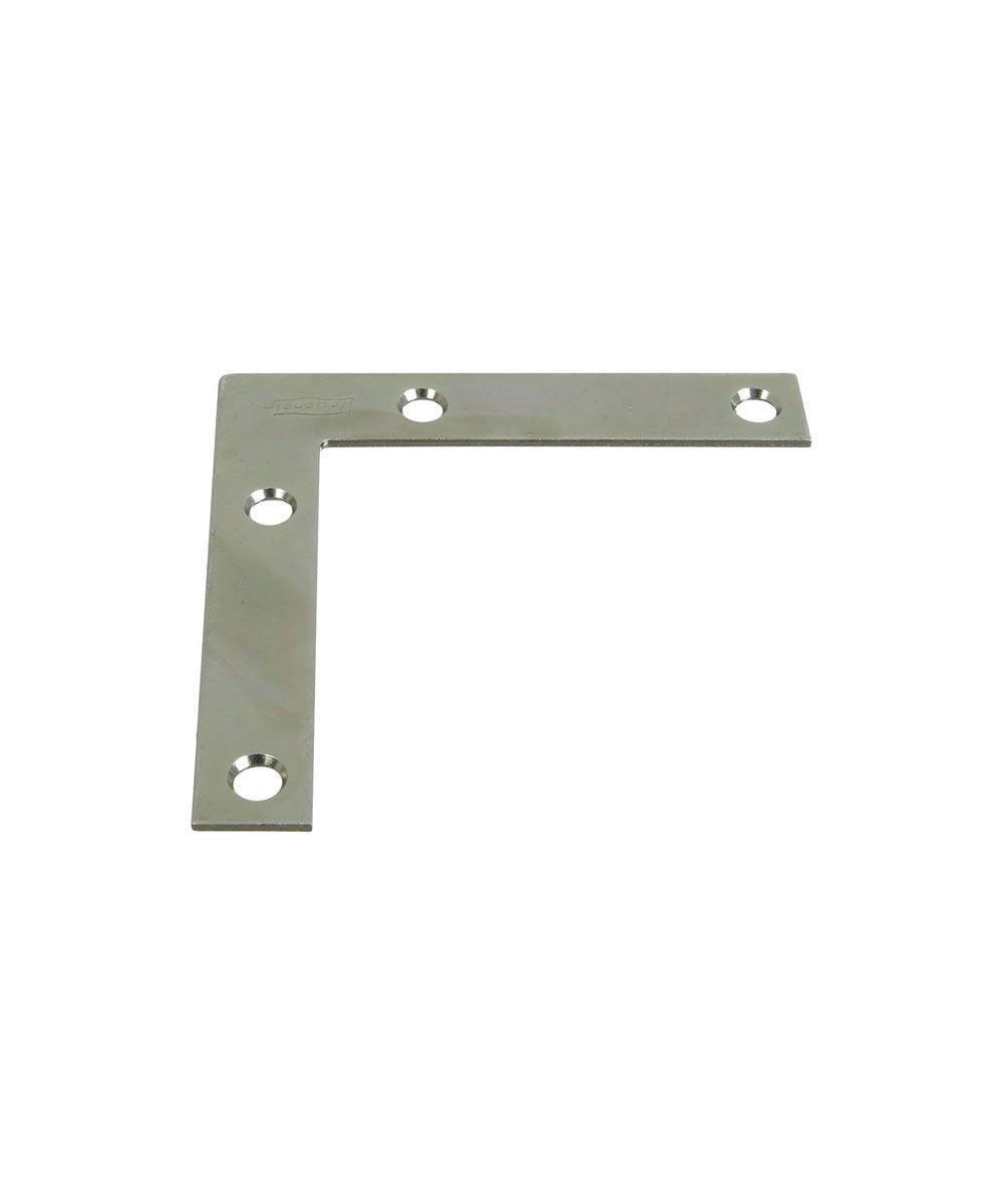 Flat Corner Brace, 3-1/2X5/8 Inches, Zinc