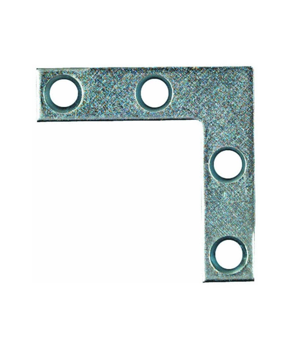 Flat Corner Brace, 4X3/4 Inches, Zinc, 4 Pack