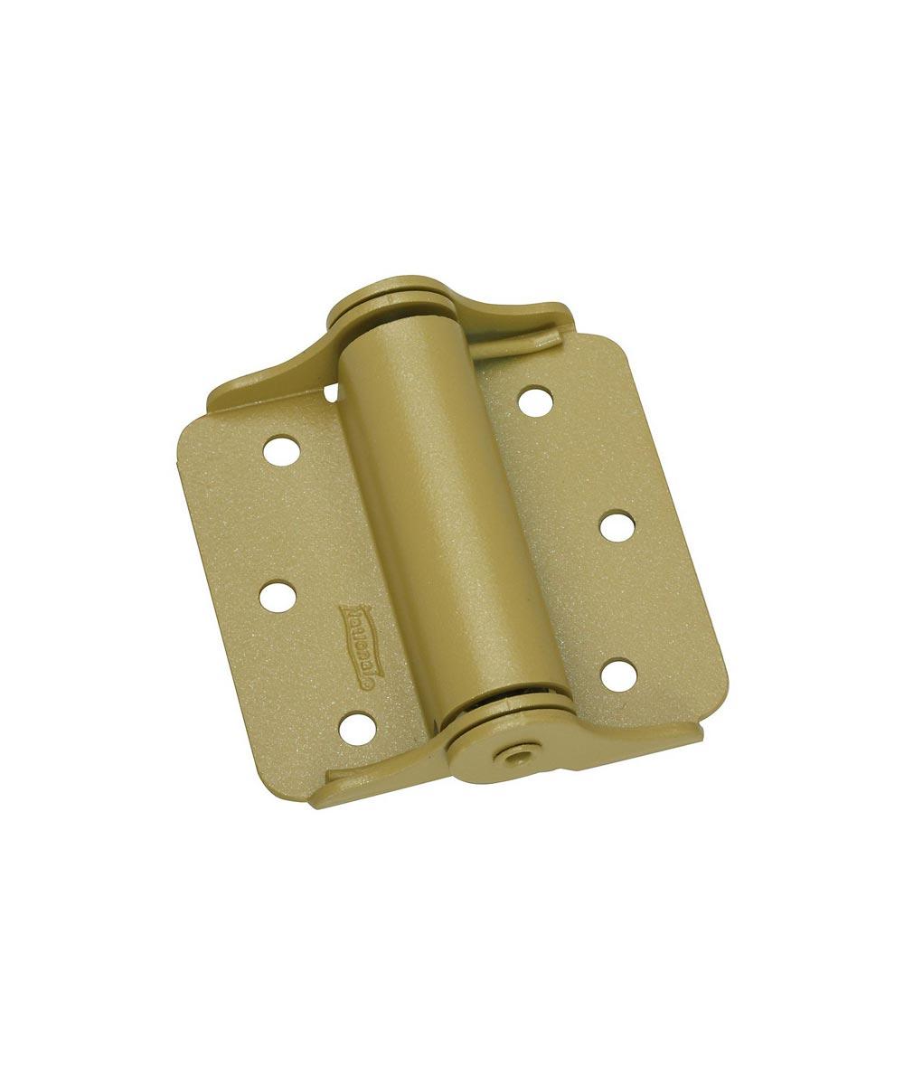 Sprng Hinge 3 in. Bakenamel  Brass