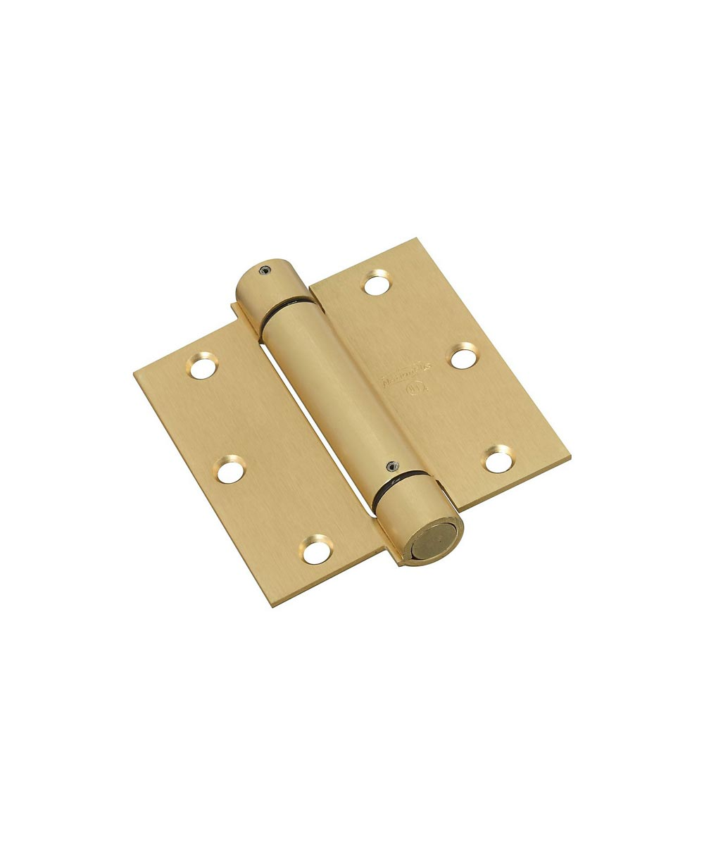 Spring Hinges 3-1/2 in. Brass