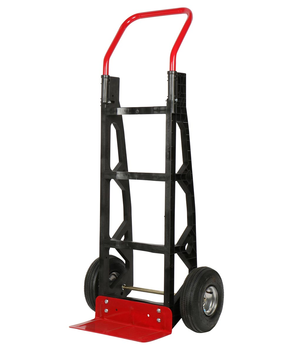 Milwaukee 600 lb. Capacity Nylon Frame Hand Truck with Straight Handle & Pneumatic Tires
