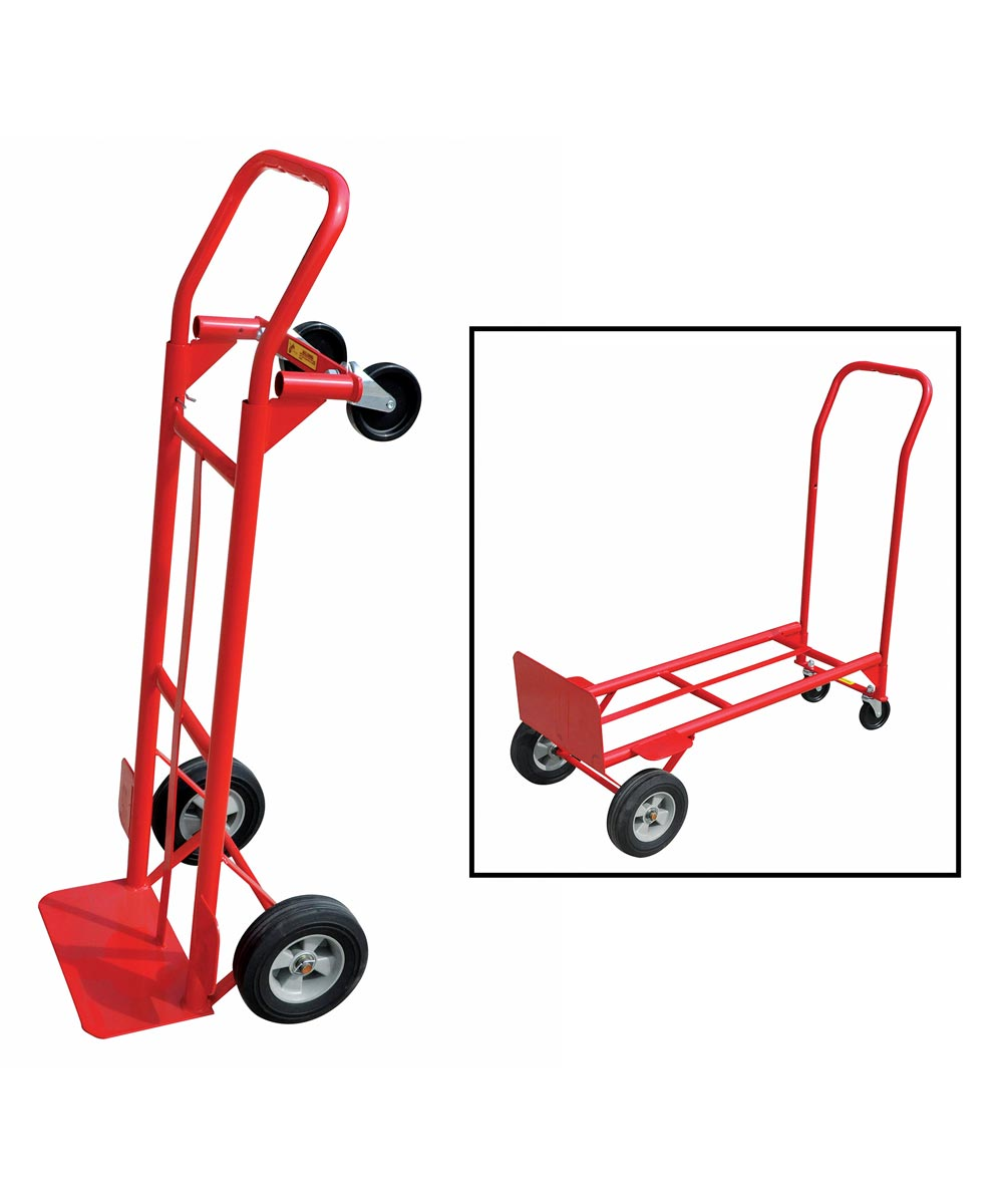 Milwaukee 600 lb. Capacity Convertible Hand Truck with Puncture-Proof Tires