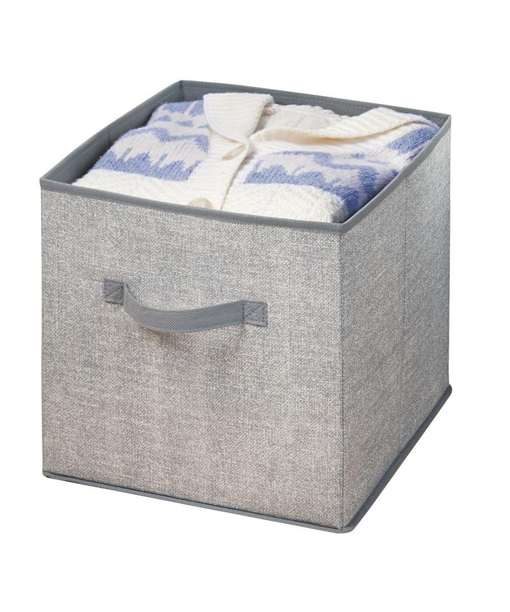 Aldo Fabric Storage Cube, Gray