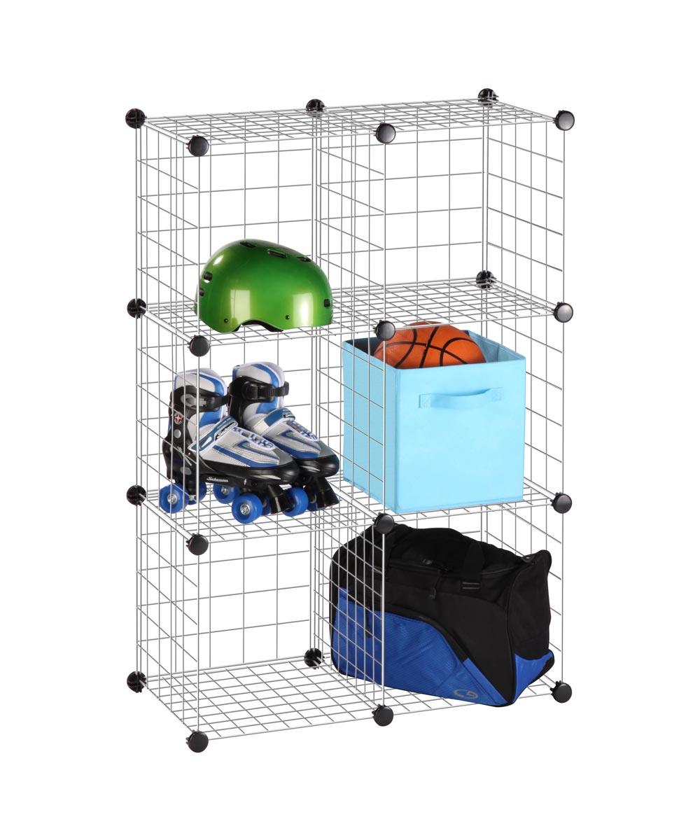 6-Cube Modular Storage, Silver