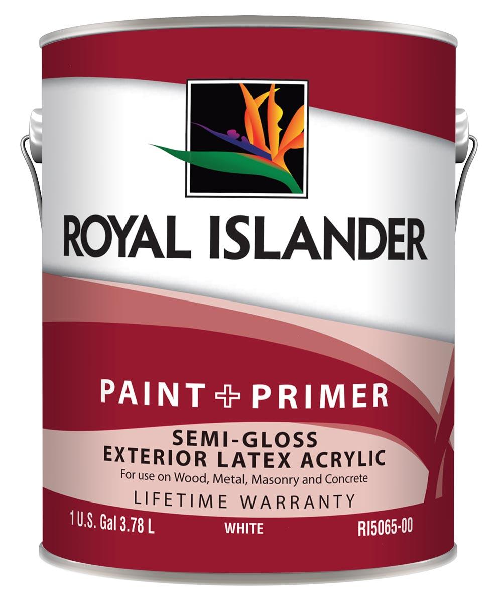 1 Gallon Exterior Semi-Gloss White Base Paint + Primer