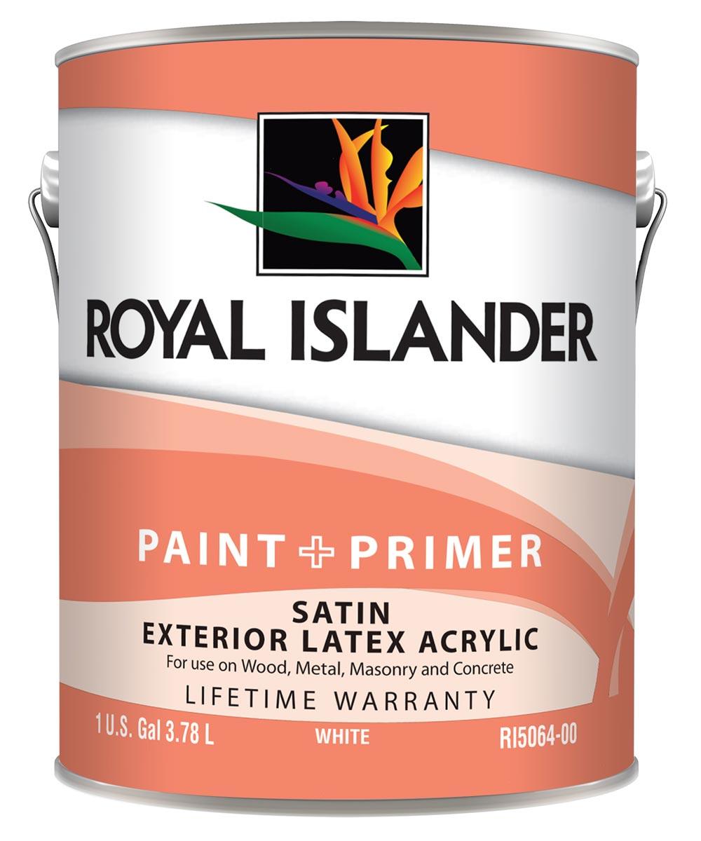 1 Gallon Exterior Satin White Base Paint + Primer