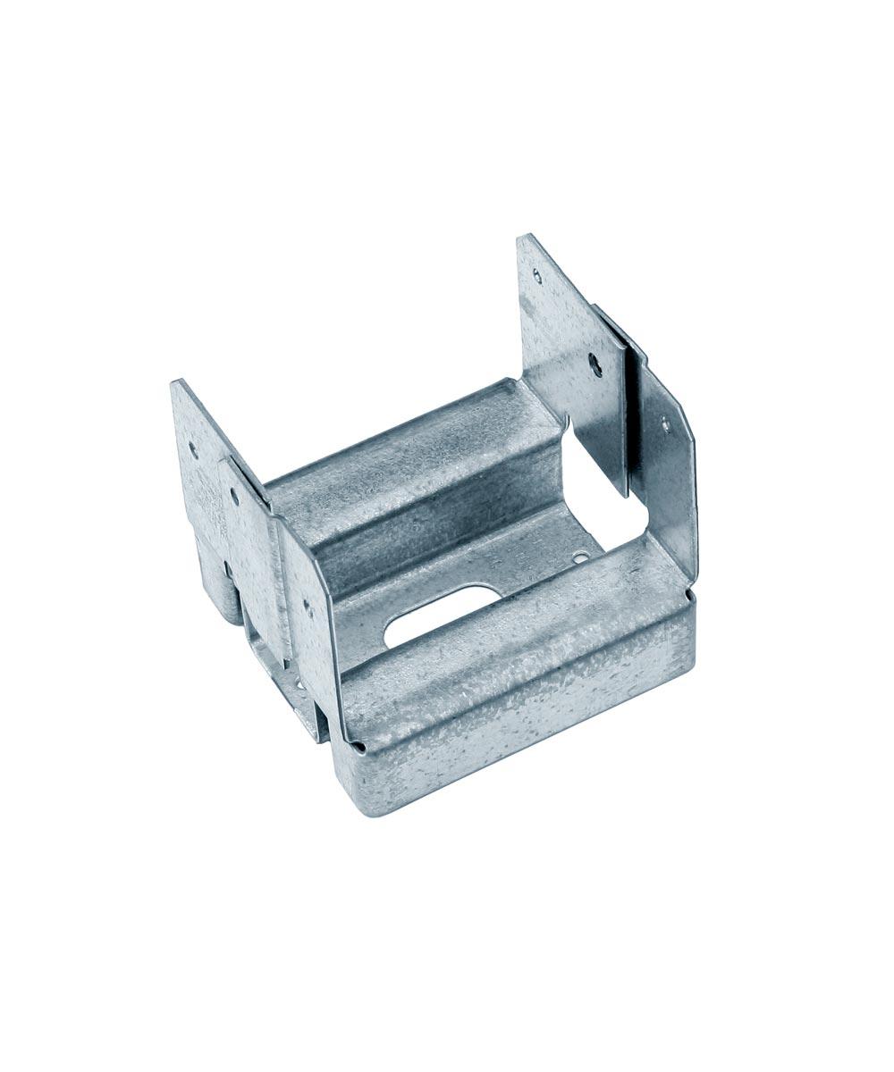 16 Gauge Galvanized Adjustable Standoff Post Base for 4x4 with ZMAX Coating
