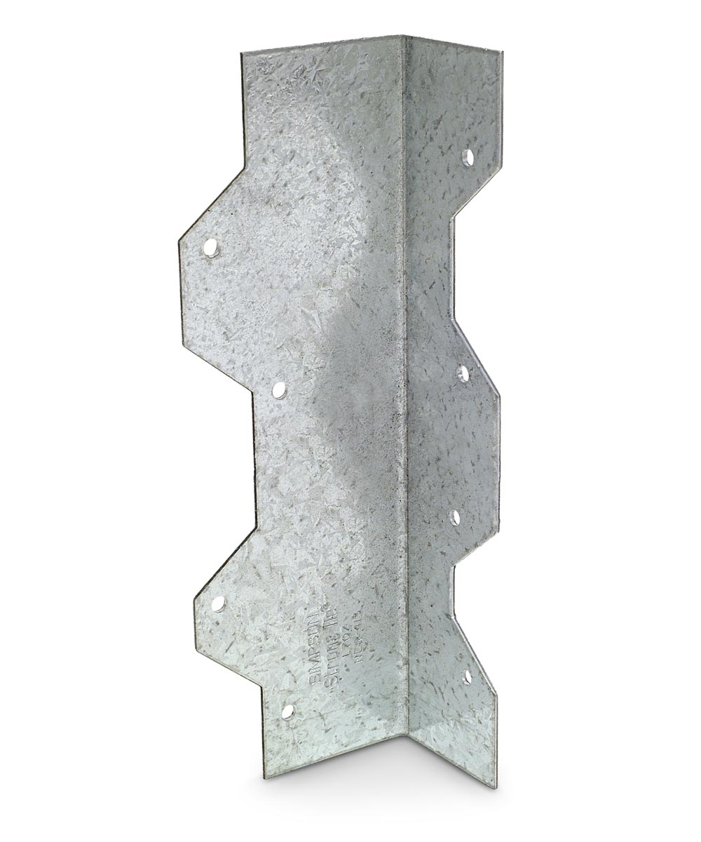 7 in. 16 Gauge Galvanized Reinforcing L Angle with ZMAX Coating