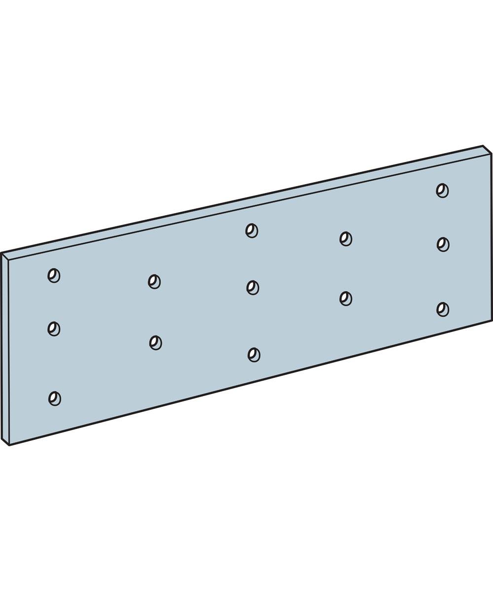 1-13/16 in. x 5 in. 20 Gauge Galvanized Tie Plate