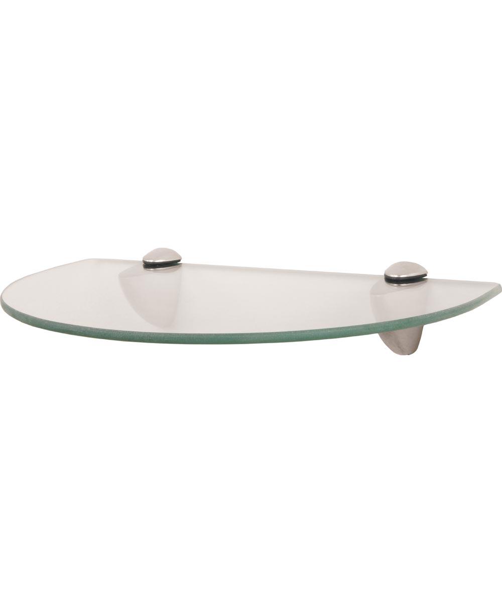 Curved Decorative Shelf Kit 12 in. (L) x 8 in. (W), 25 lb, Glass