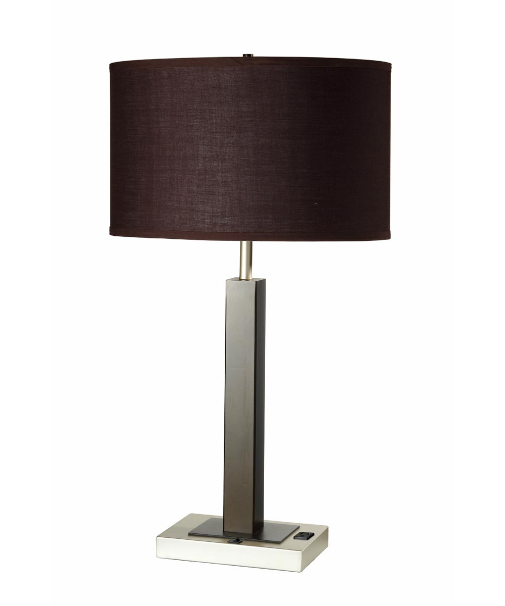Lamp Table W/Outlet Espresso 26 in.