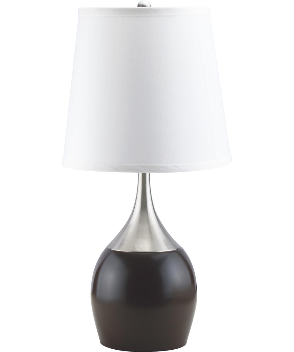 24 in. Table Touch Lamp, Espresso/Silver