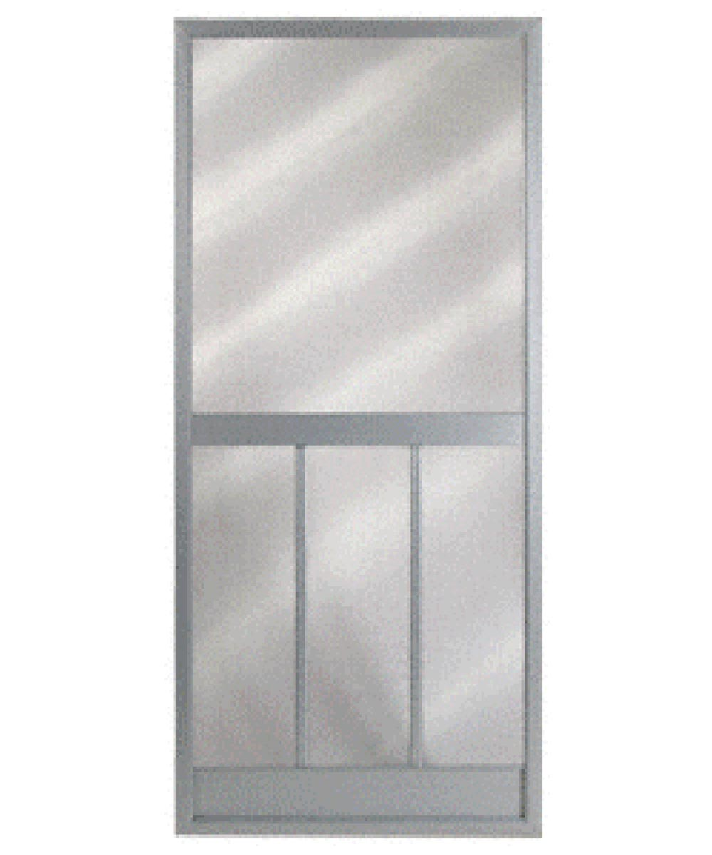 36 in. x 80 in. Bravo Steel Hinged Screen Door, Gray