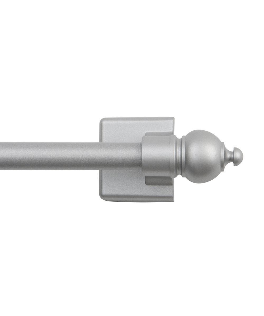 16 in. - 28 in. Satin Silver Petite Magnetic Rod