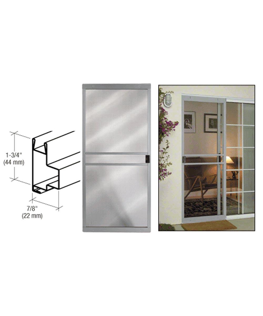 48 in. x 80 in. CM Supreme Sliding Patio Screen Door, Gray