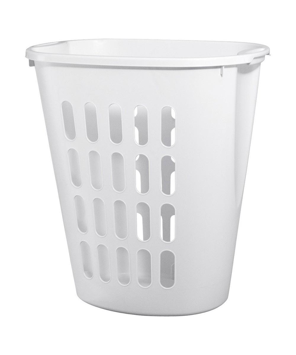 Sterilite 21 in. x 14-3/8 in. x 21-7/8 in. White Plastic Open Laundry Hamper