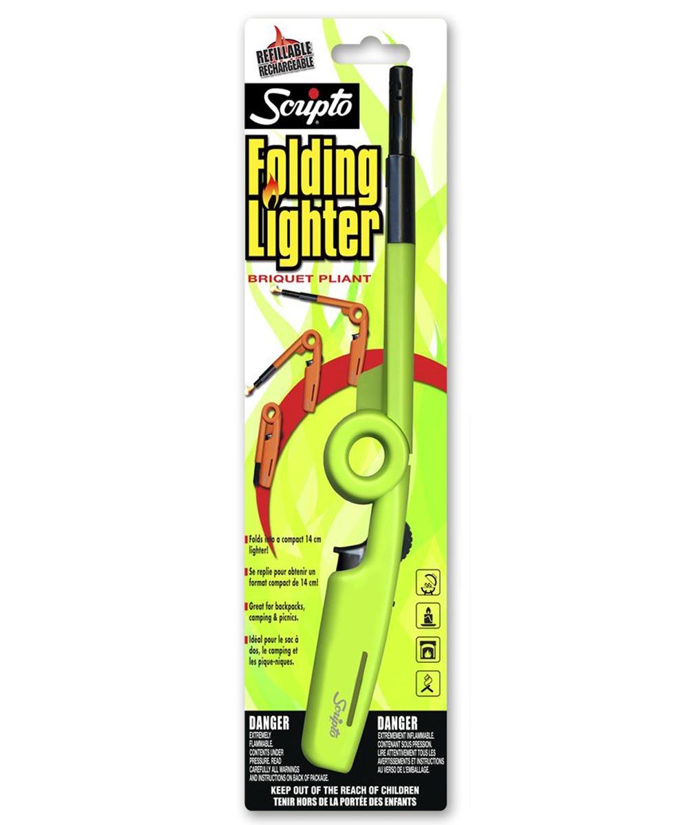 Scripto Folding Refillable Utility Lighter