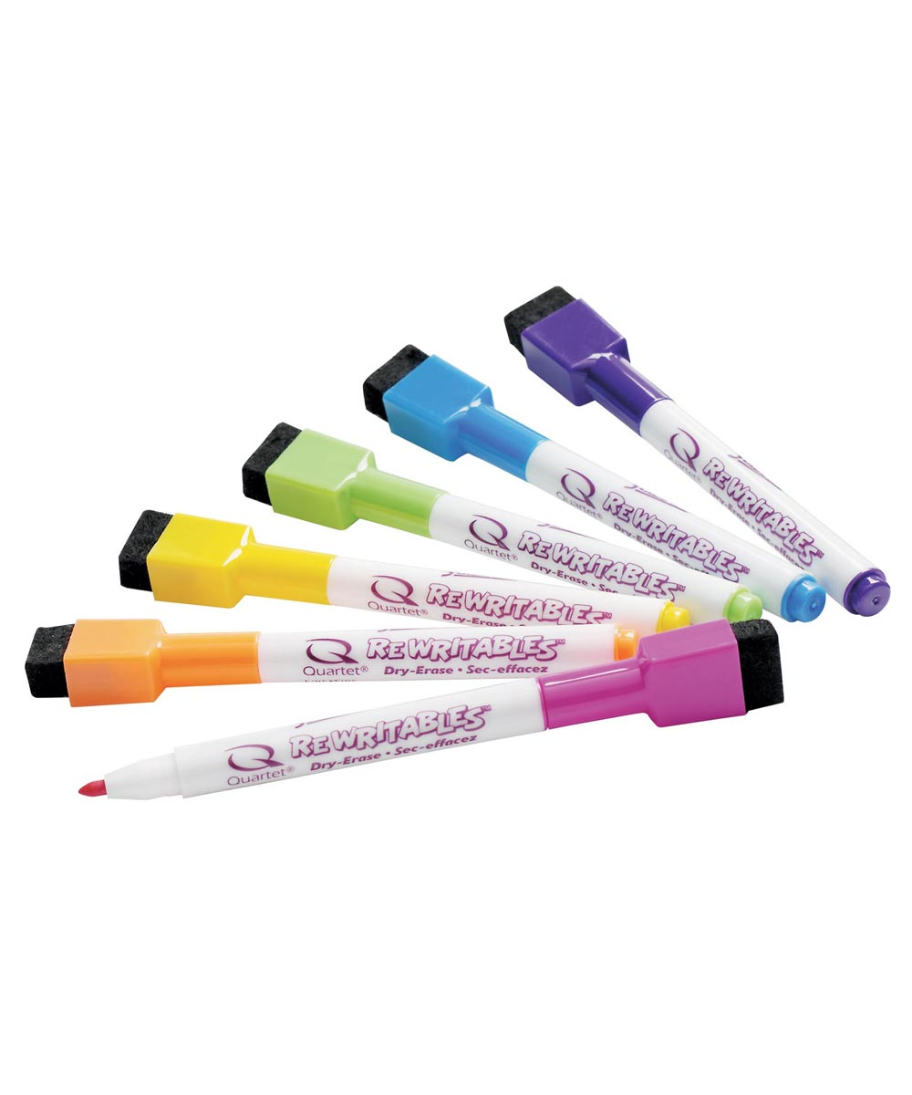 Magnetic Mini Dry Erase Markers Assorted Colors 6 Count