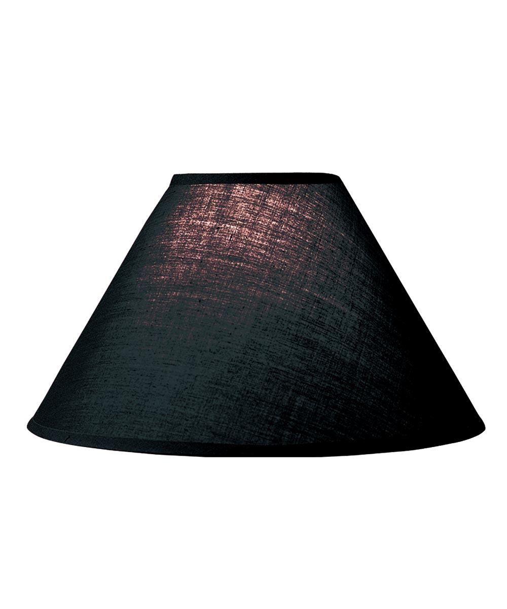 LAMPSHADE HRDBK BLK 4 in.X10 in.X7 in.H