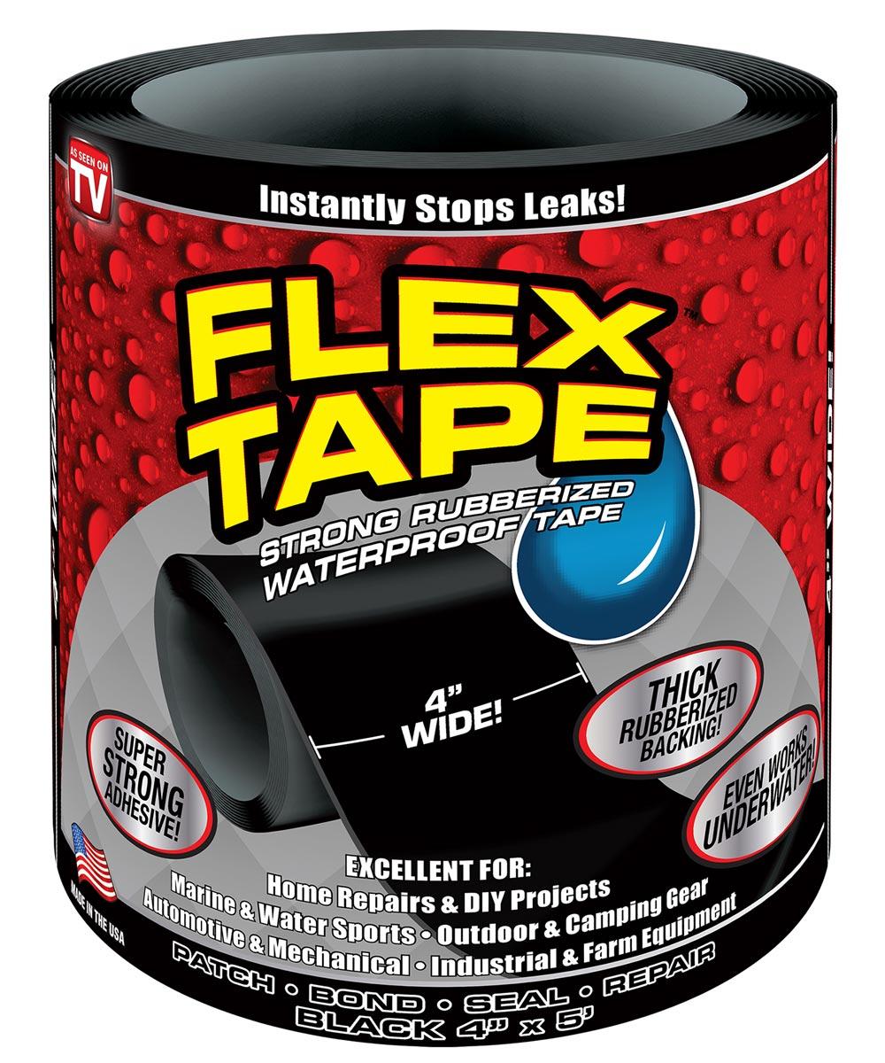 4 in. x 5 ft. Waterproof Flex Tape, Black