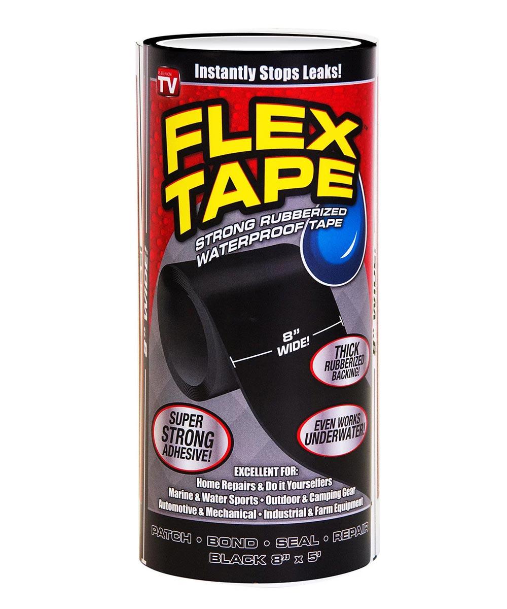 8 in. x 5 ft. Jumbo Waterproof Flex Tape, Black