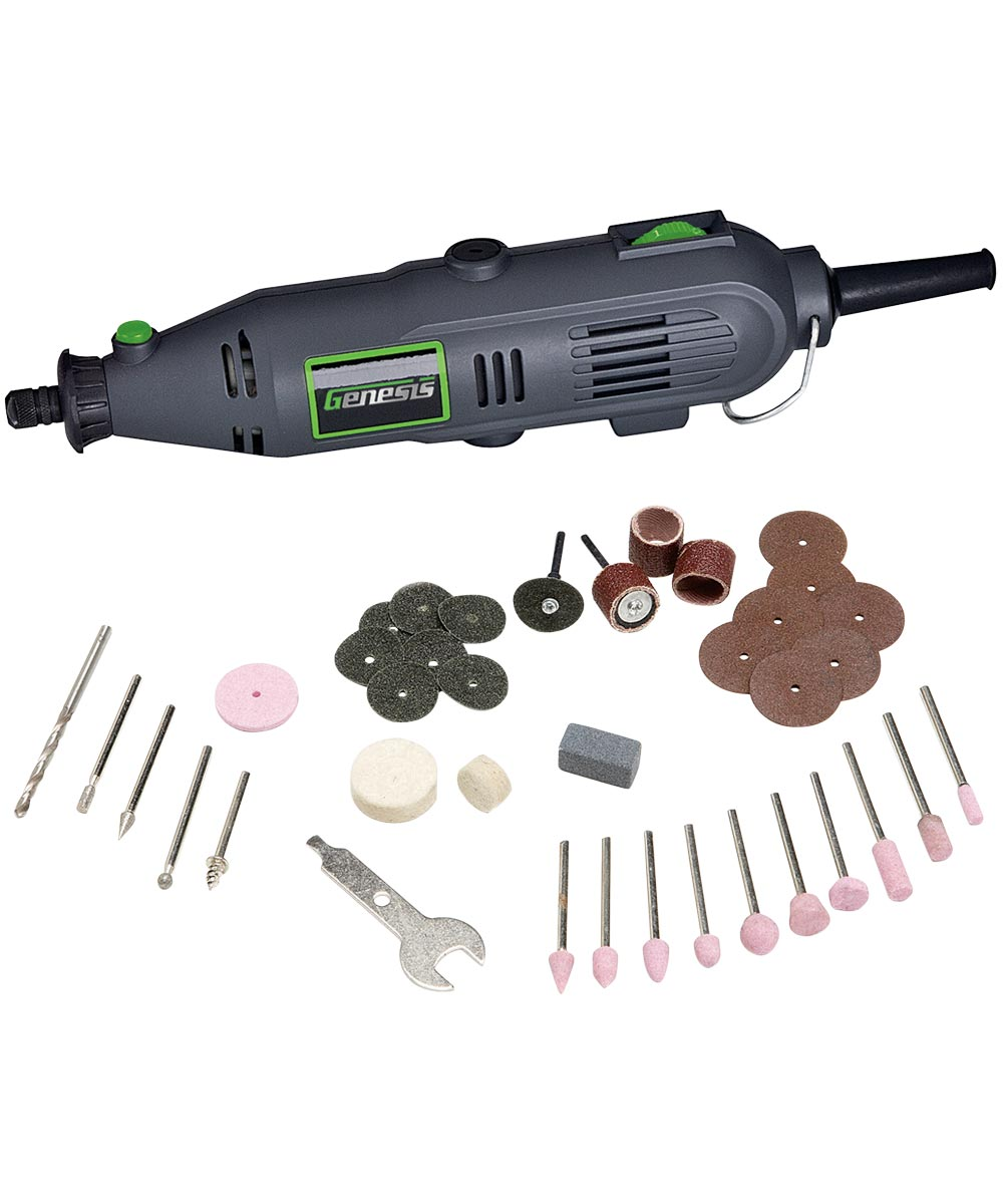Genesis Variable Speed Rotary Tool with 40-Piece Accessory Set