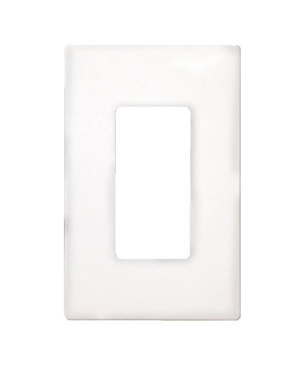 Wallplate Mid-size Screwless, 1 Gang, White
