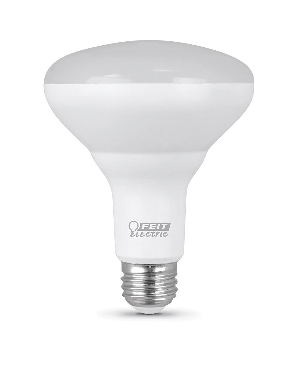 Feit Electric 10.5 Watt E26 Br30 Daylight LED Dimmable Light Bulb 2 Pack