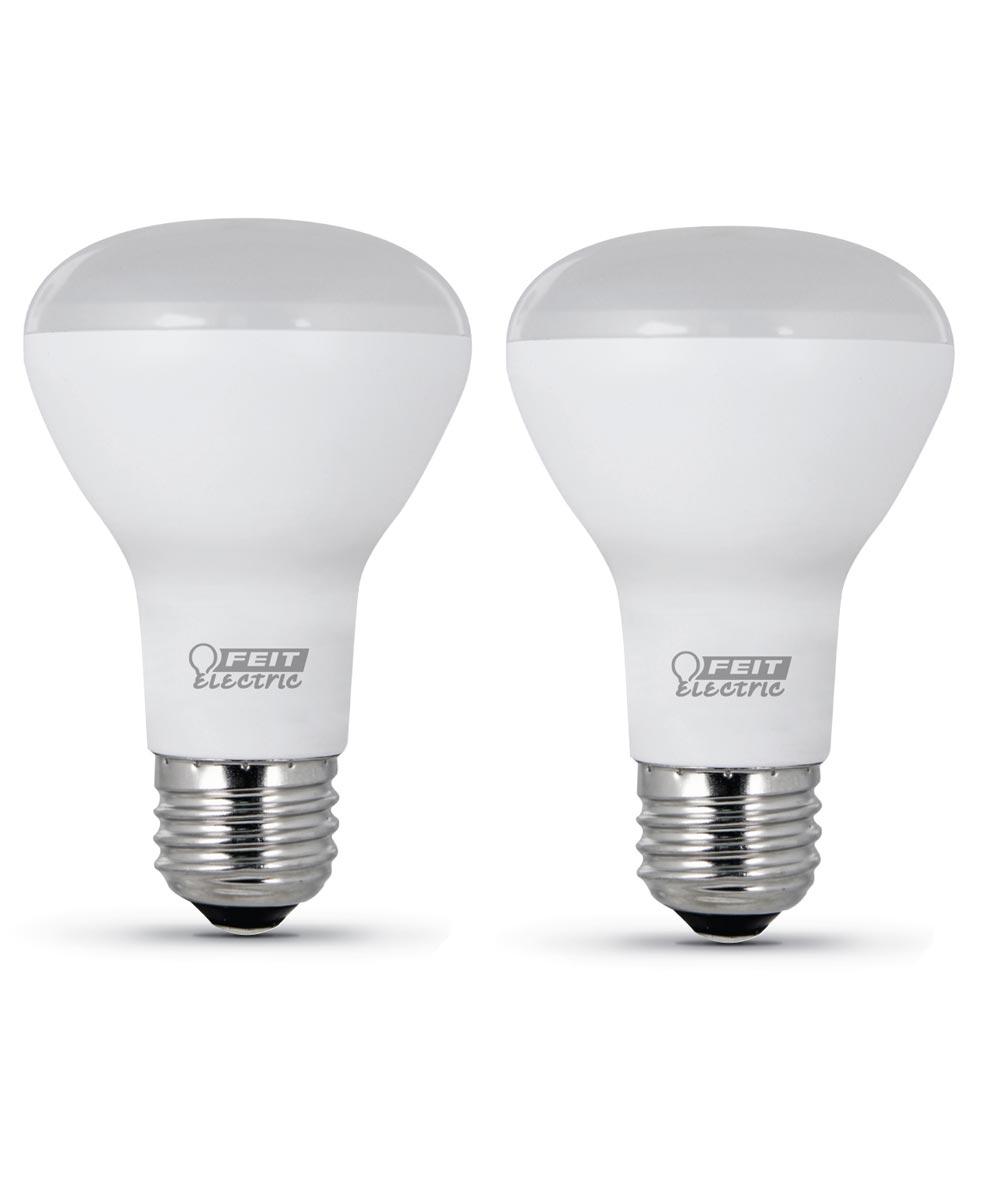 Feit Electric 7.5 Watt E26 R20 Soft White LED Dimmable Light Bulb 2 Pack