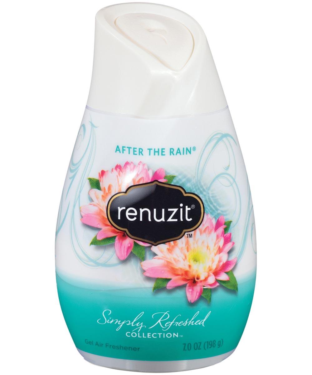 Renuzit Super Odor Neutralizer Adjustable Air Freshener, 7.5 oz., Liquid, Clear, After The Rain