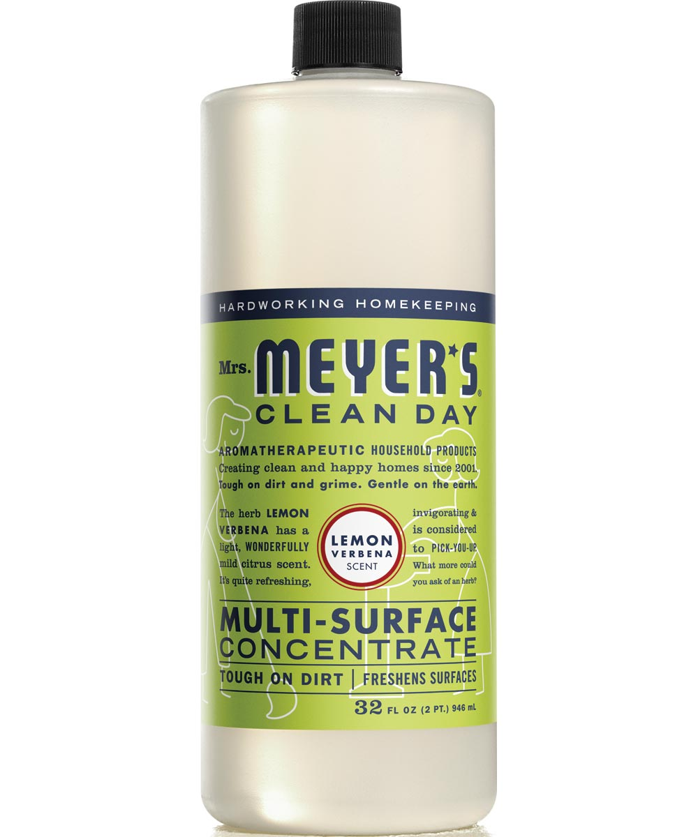 Mrs. Meyer's Clean Day Multi-Surface Concentrate All-Purpose Cleaner, Lemon Verbena Scent, 32 oz.