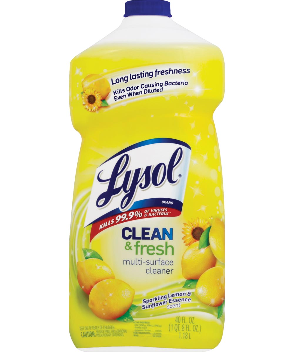 Lysol Multi-Surface Pourable All Purpose Cleaner, 40 oz Bottle, Clear Liquid