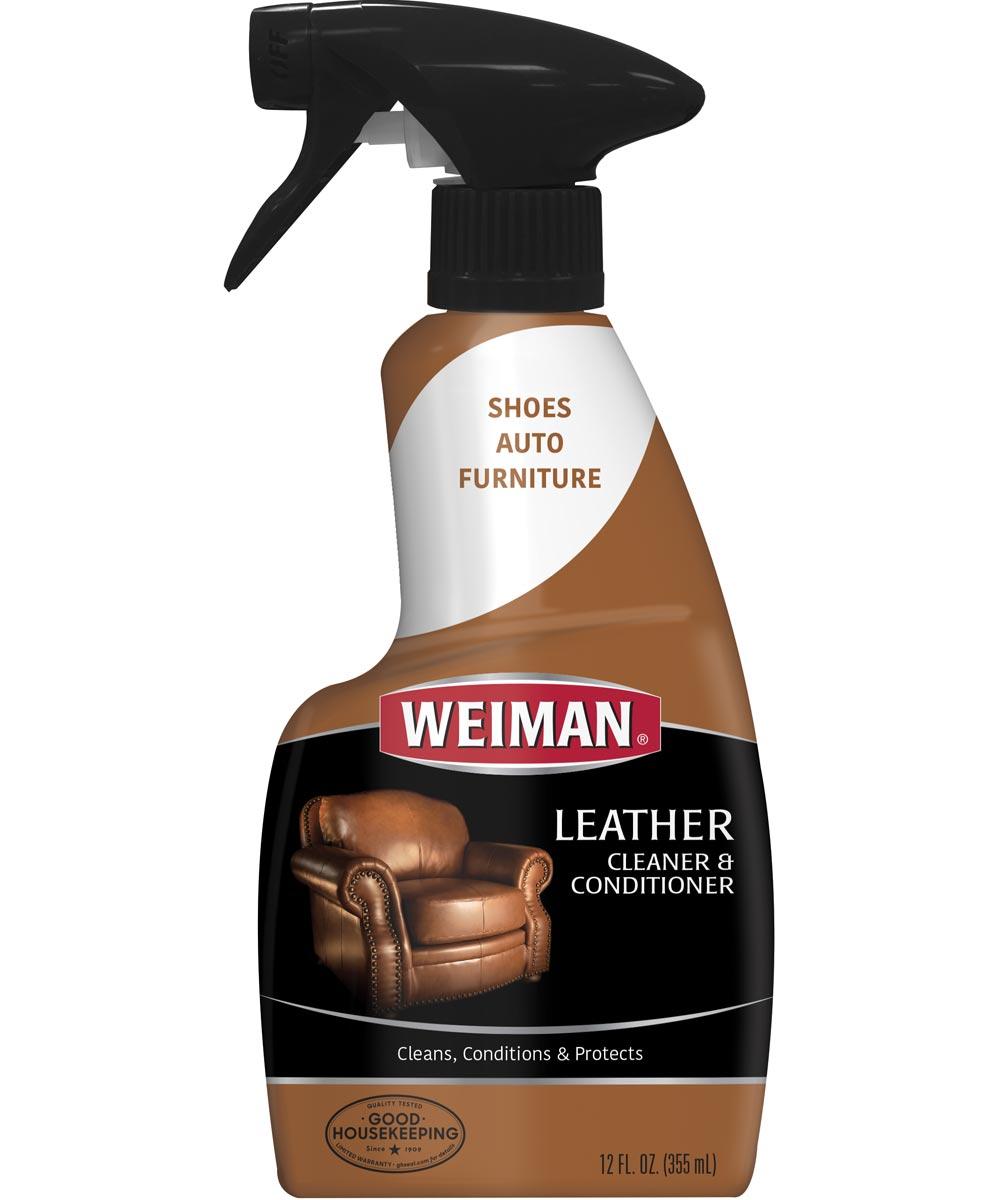 Leather Cleaner and Conditioner, 12 oz., Trigger Spray Dispenser, White Cream, Lemon, >93.3 deg C, 8.3 pH