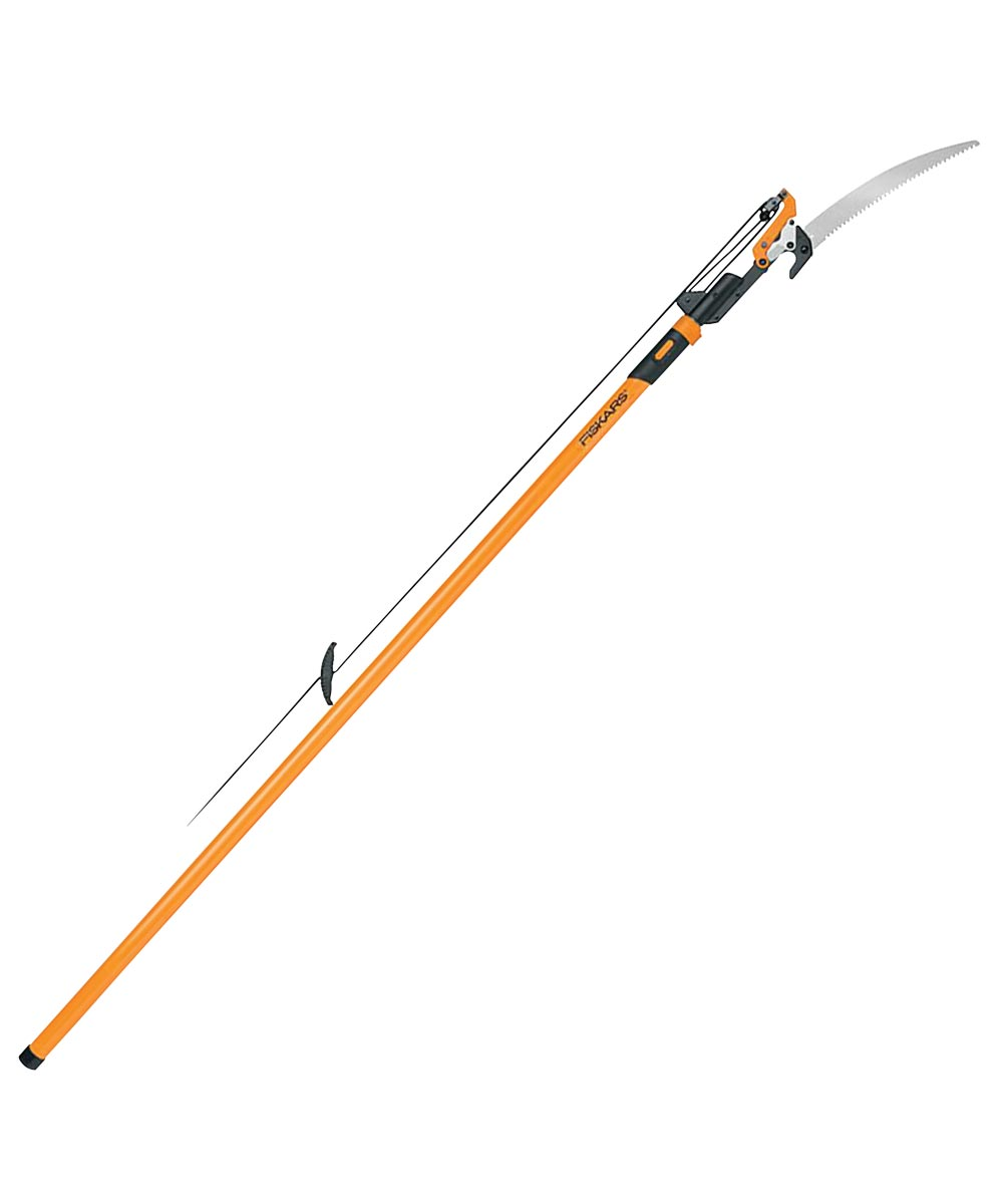 Tree Pruner Pole and Pole Saw, 1-1/4 in Capacity, 15 in. (L), Steel Blade, Rubber, 14 in. (L)