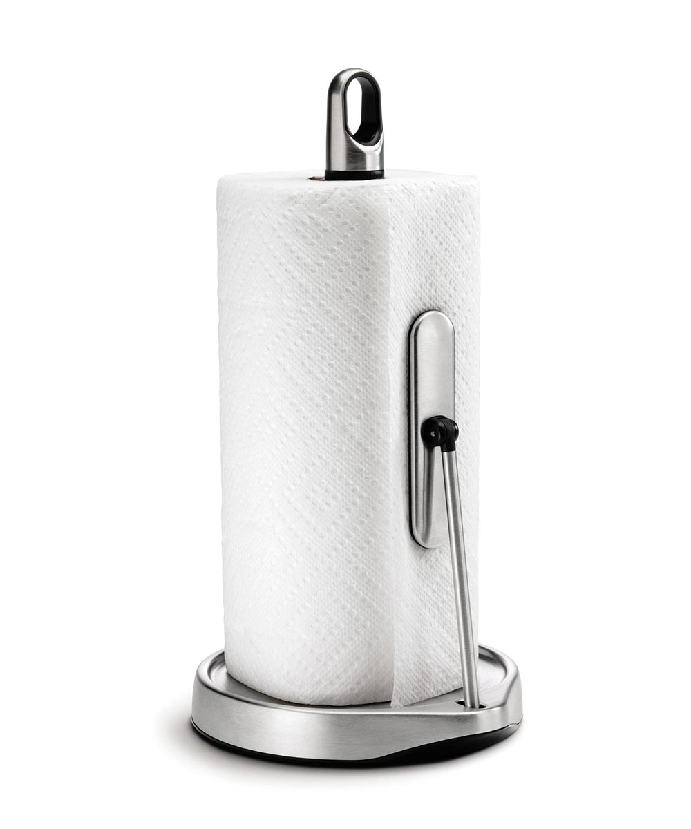 Tension Arm Paper Towel Holder, Stainless Steel