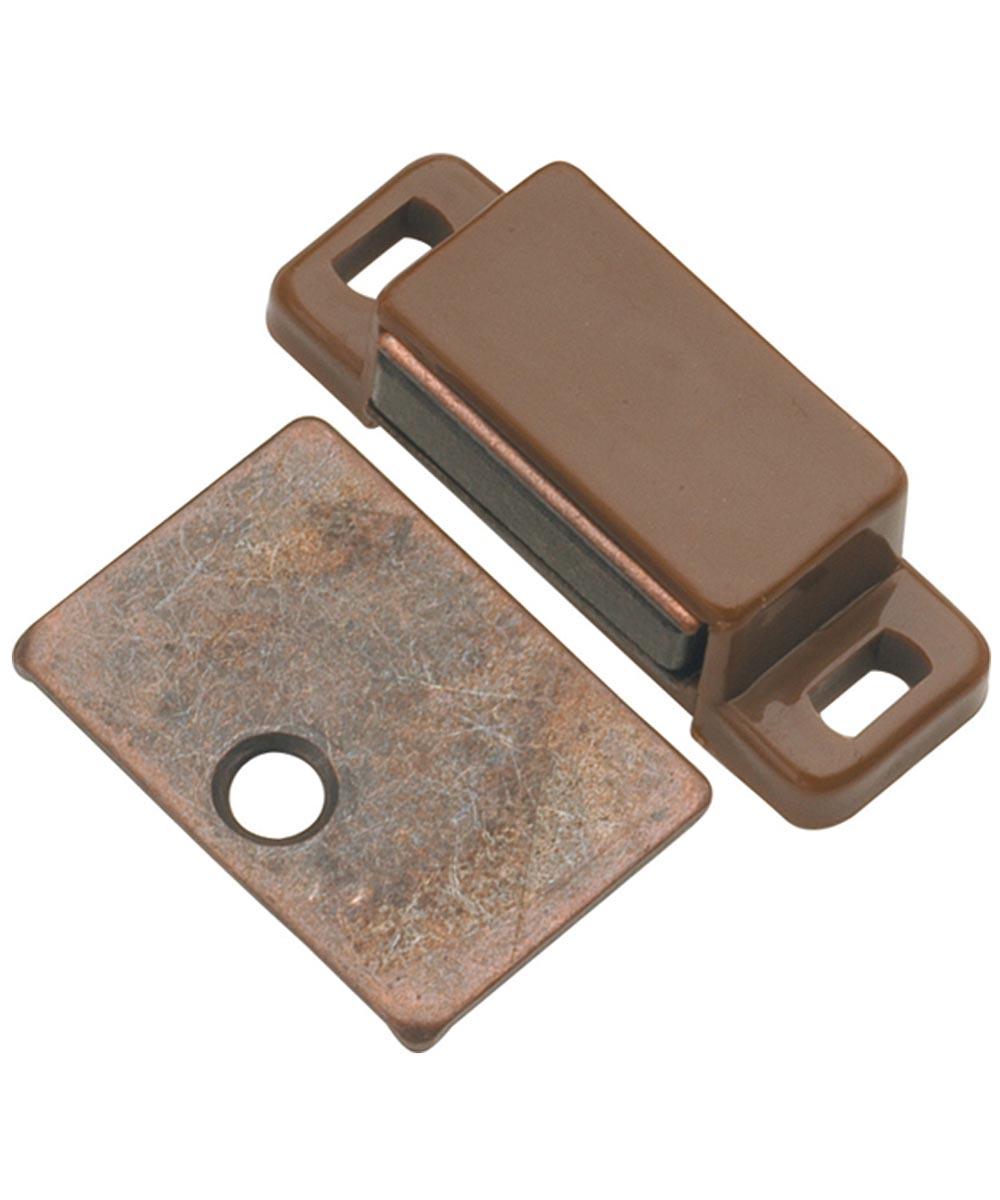 1-7/16 in. Cadmium Bronze Super Magnetic Cabinet Door Catch