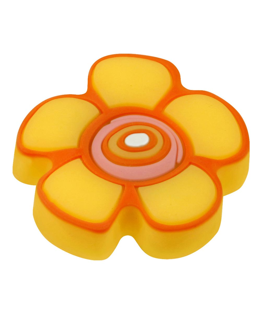 1-5/8 in. Yellow/Orange Flower Kids ft. Corner Cabinet Knob