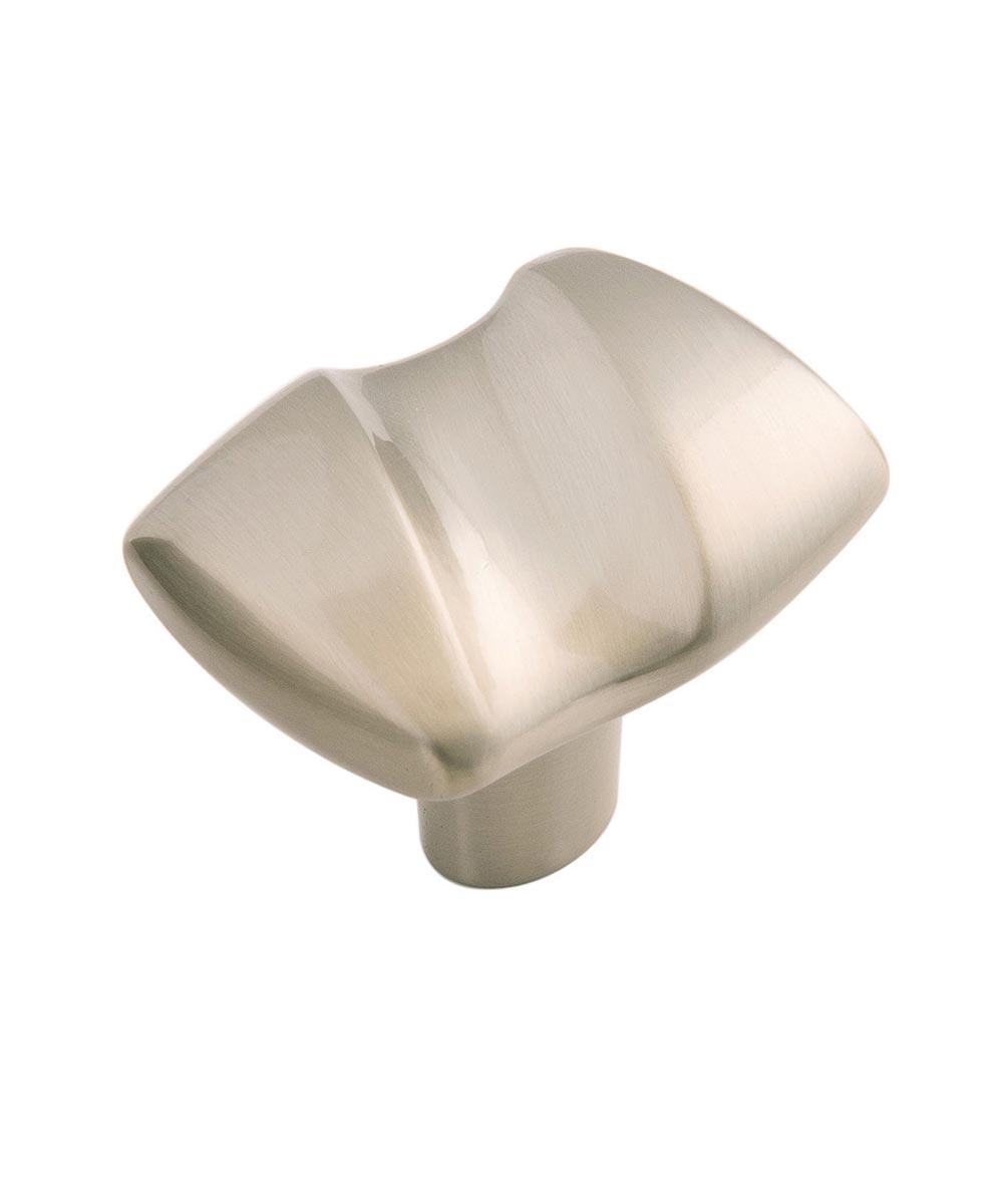 1-1/2 in. x 1-1/4 in. Iced Tea Nickel Serendipity Cabinet Knob