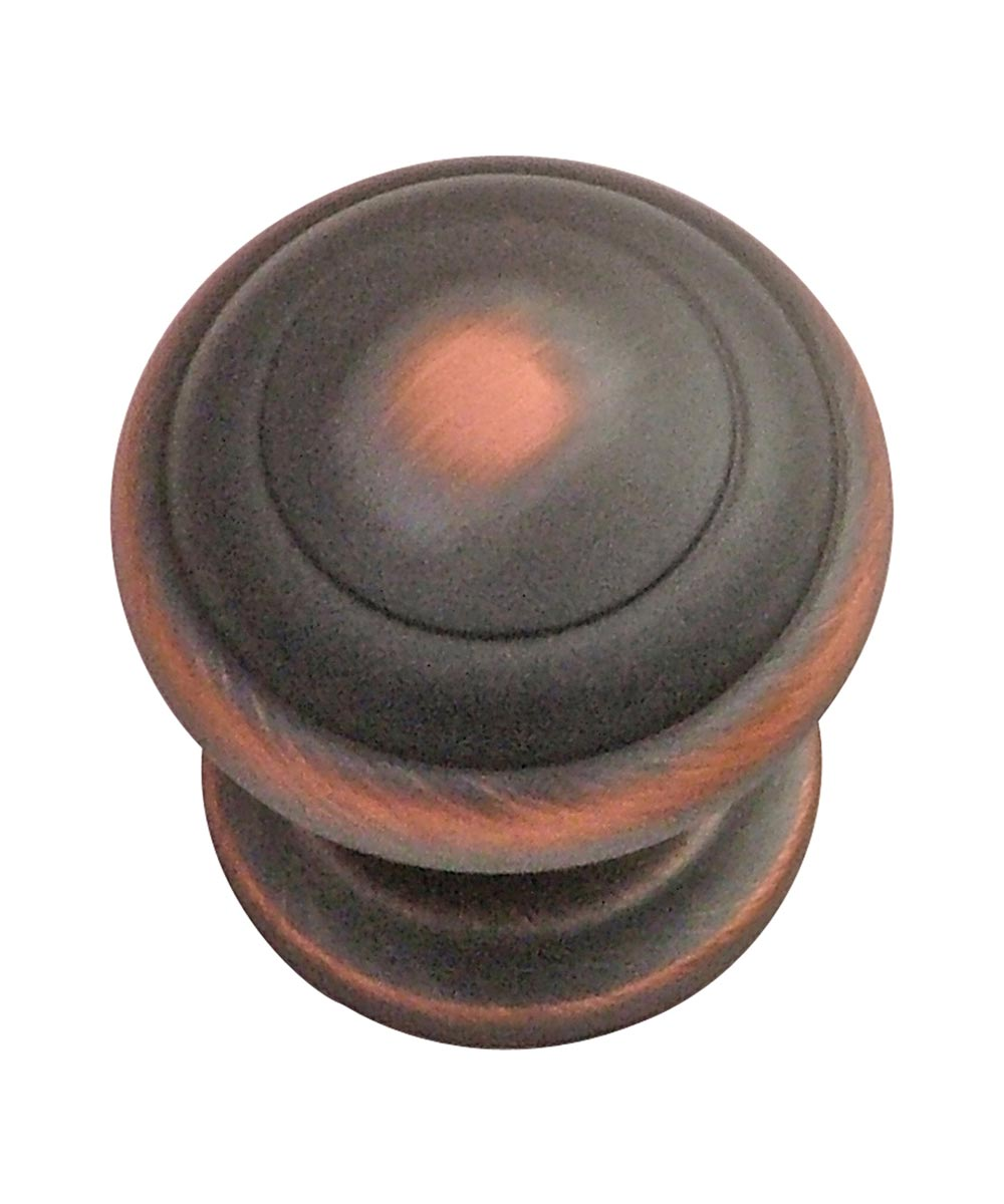 1-1/4 in. Round Oil Rubbed Bronze Zephyr Cabinet Knob
