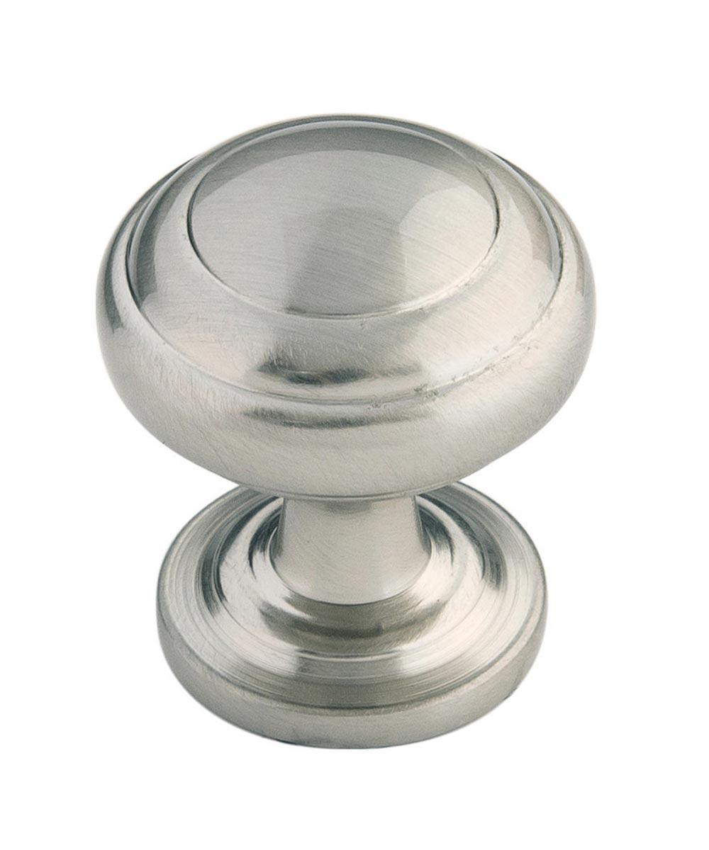 1 in. Satin Nickel Zephyr Cabinet Knob