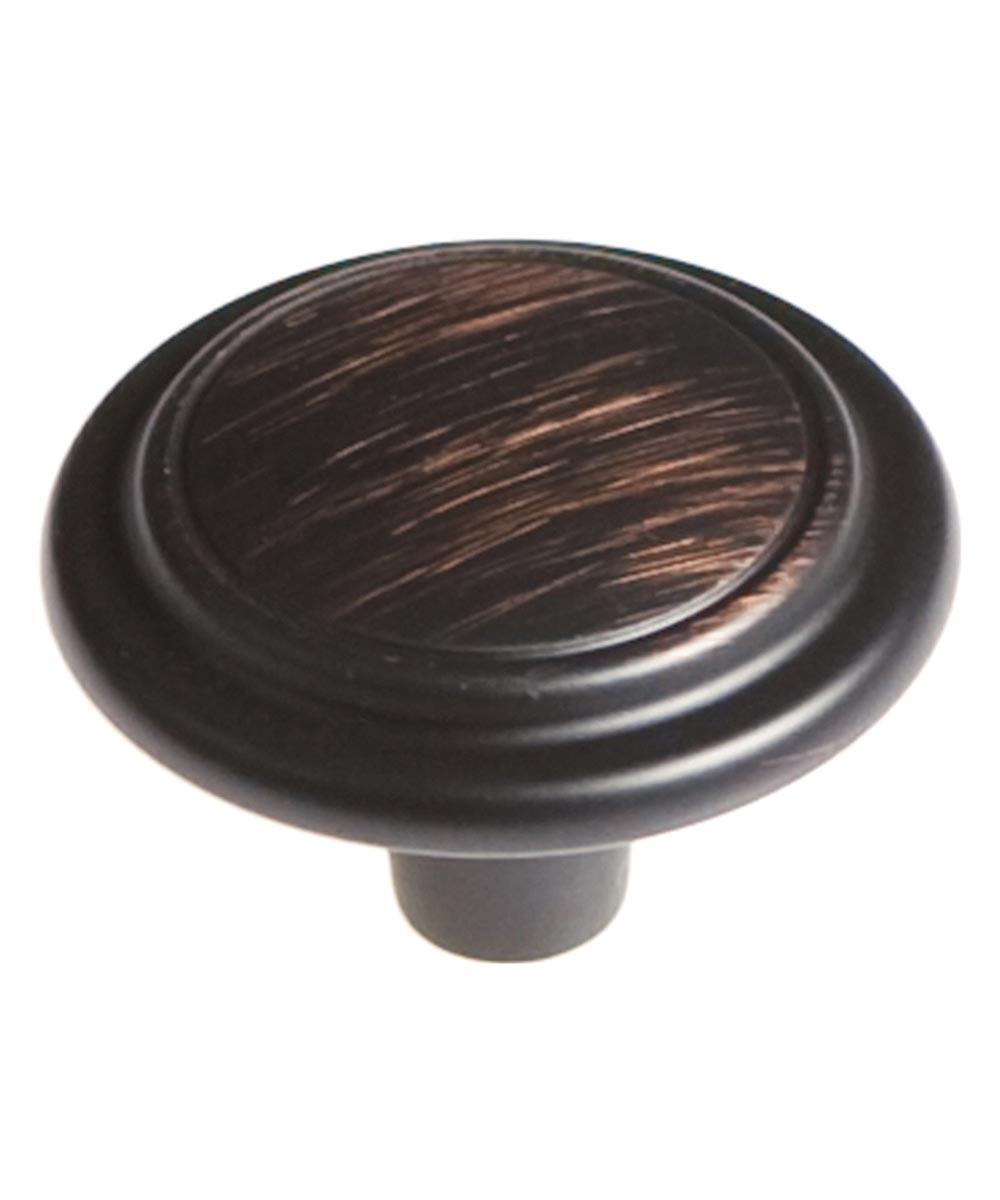 1-1/4 in. Round Vintage Bronze Eclipse Cabinet Knob
