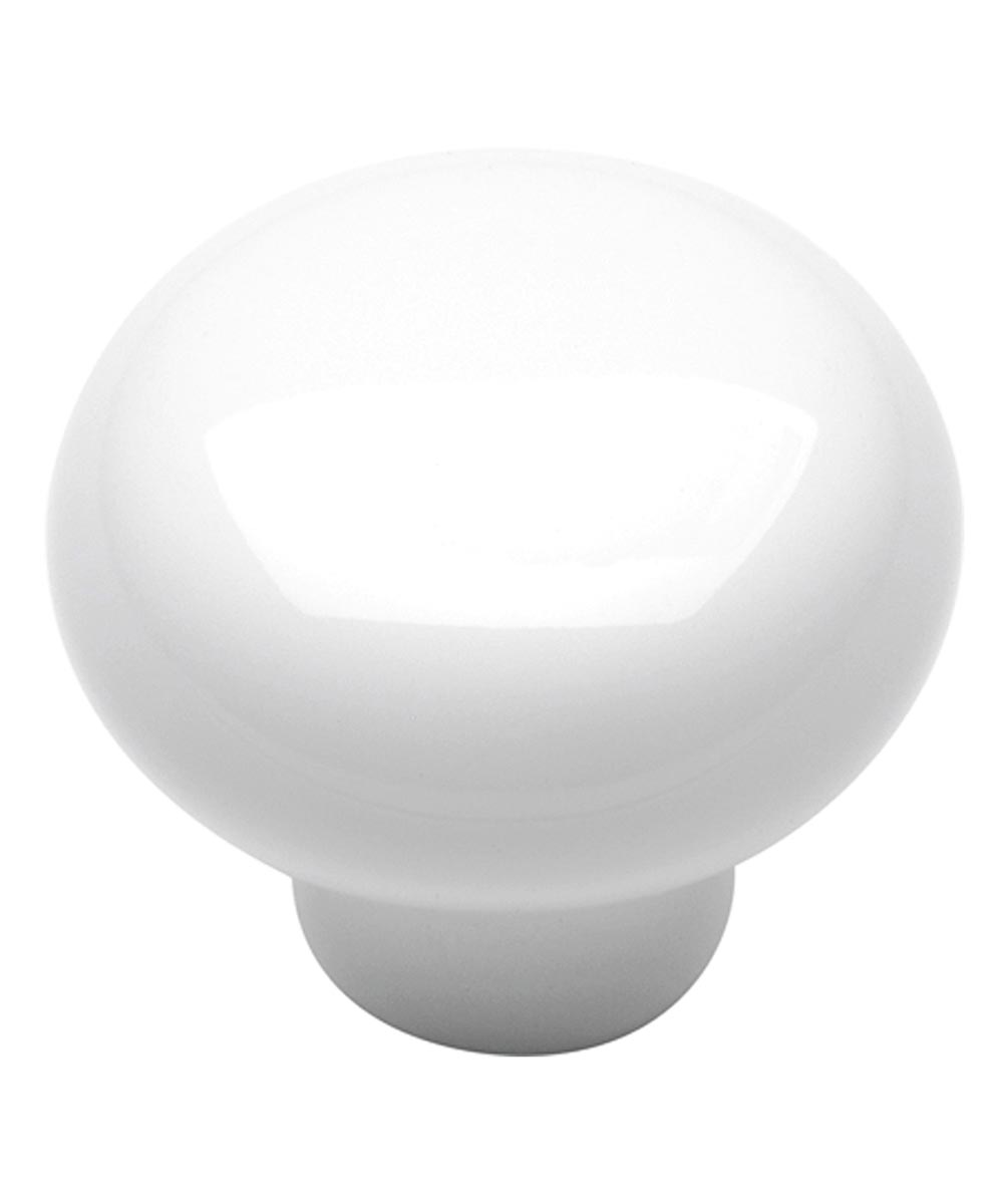 1-3/8 in. Round White Porcelain English Cozy Cabinet Knob