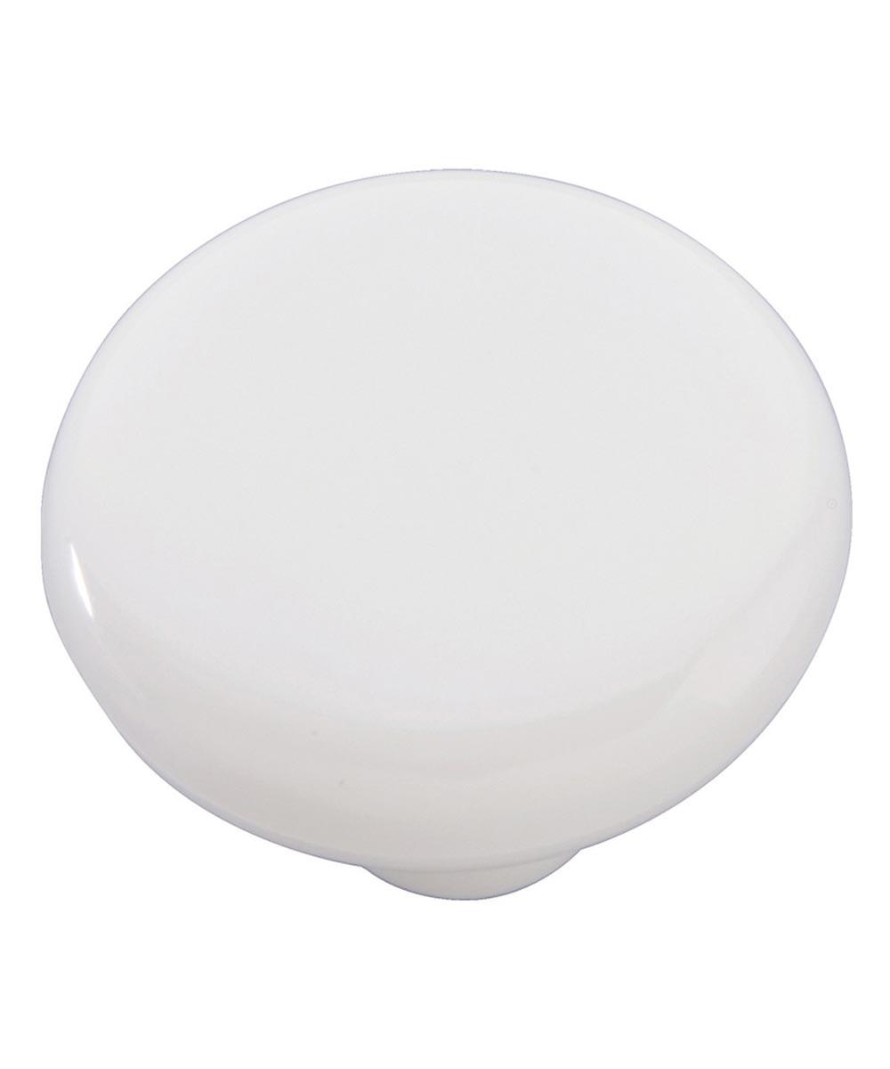 1-1/2 in. Round White Midway Cabinet Knob